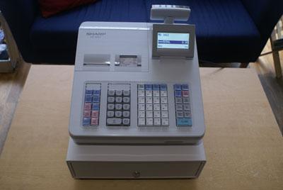 sharp xea 307 xe a307 cash register epos terminal till ebay. Black Bedroom Furniture Sets. Home Design Ideas